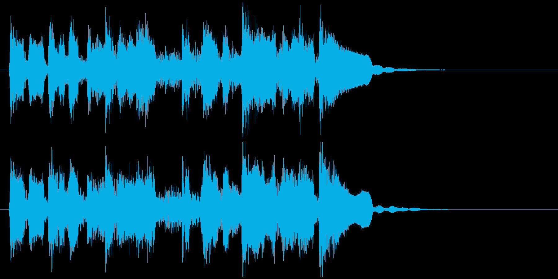 かわいいリコーダーの脱力ファンクジングルの再生済みの波形