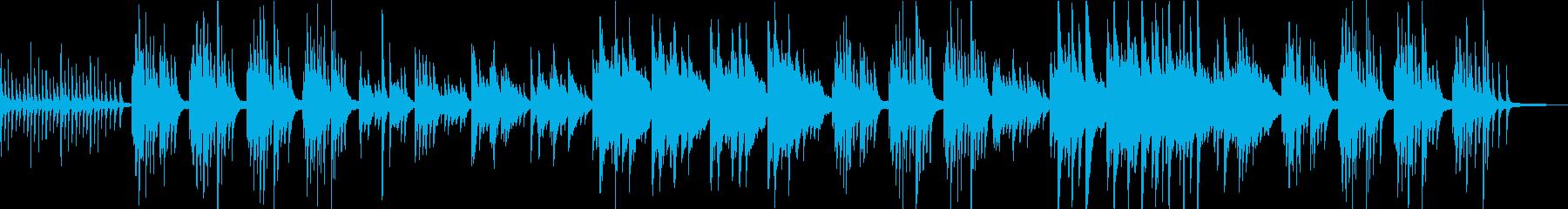 切なく優しいけど迷い葛藤あるピアノソロの再生済みの波形