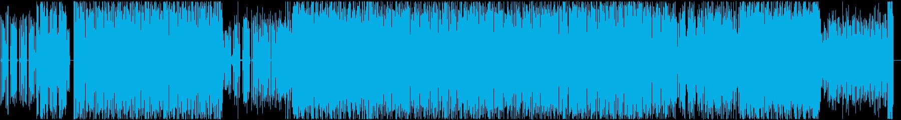 スピード感のあるブレイクビーツの再生済みの波形