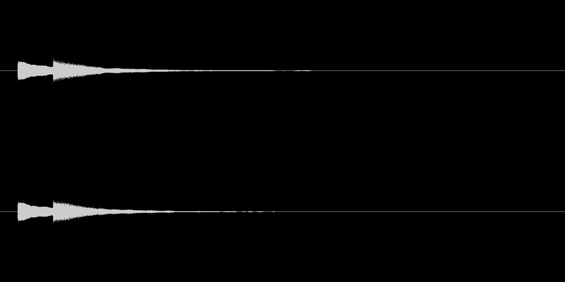 ピンポーン エレベーターナビ目的地到着の未再生の波形