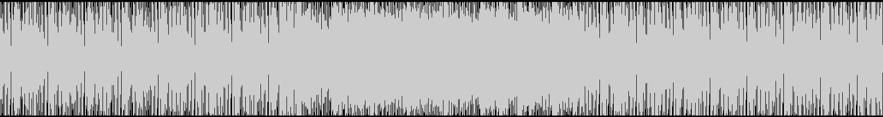 近未来的なエレクトロファンク(ループ用)の未再生の波形