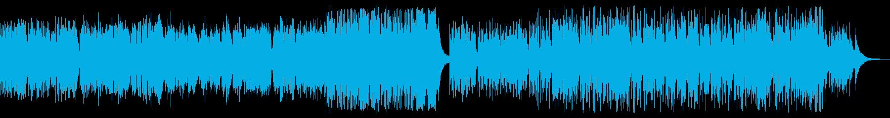 優しく繊細で穏やかなヨガ音楽の再生済みの波形