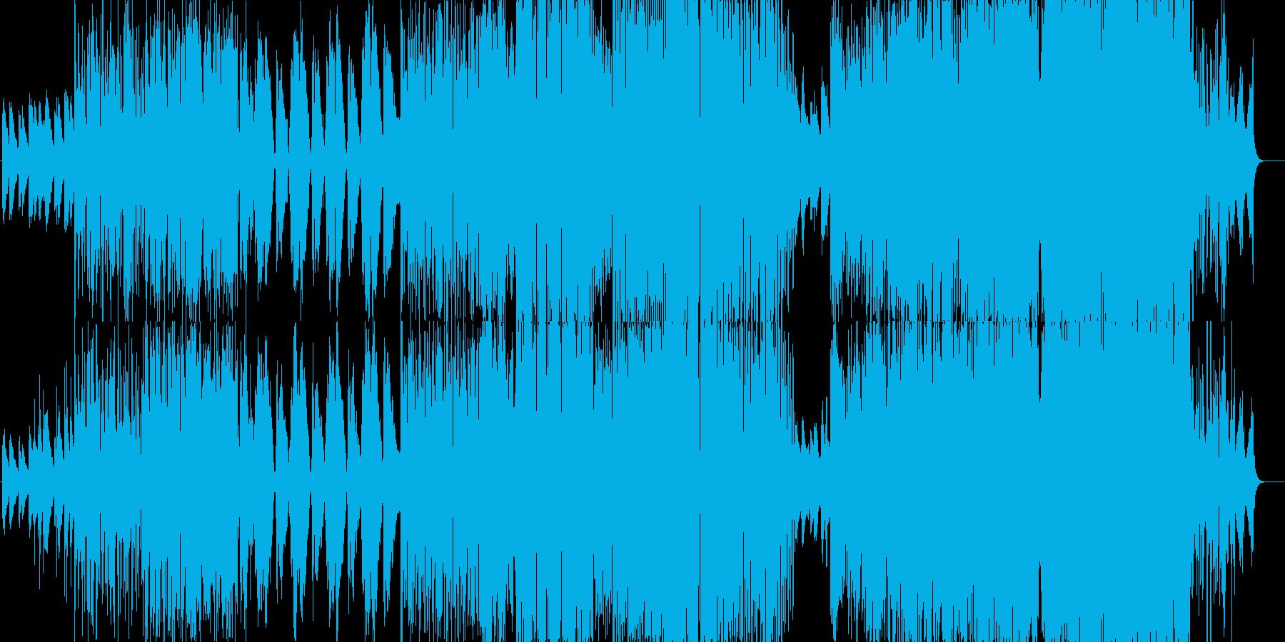ピアノ始まりの爽快感抜群の一曲の再生済みの波形