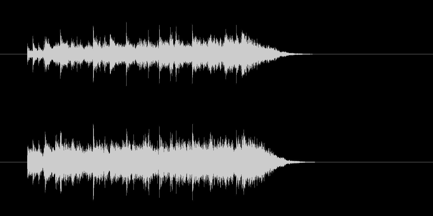 ジングル(シャッフル・ビート)の未再生の波形