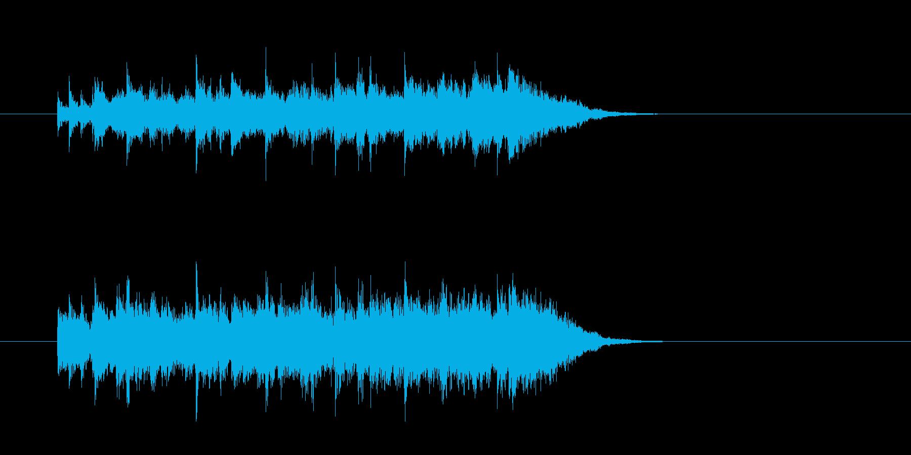 ジングル(シャッフル・ビート)の再生済みの波形