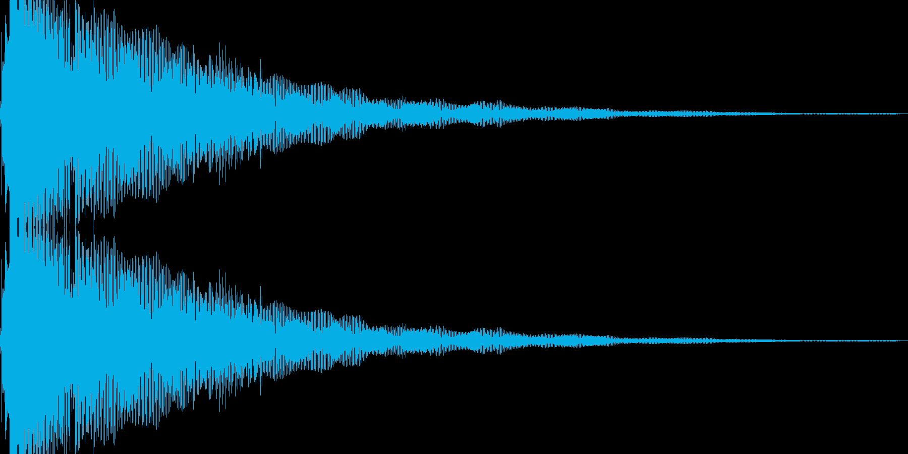 キランというかわいいSEです。の再生済みの波形