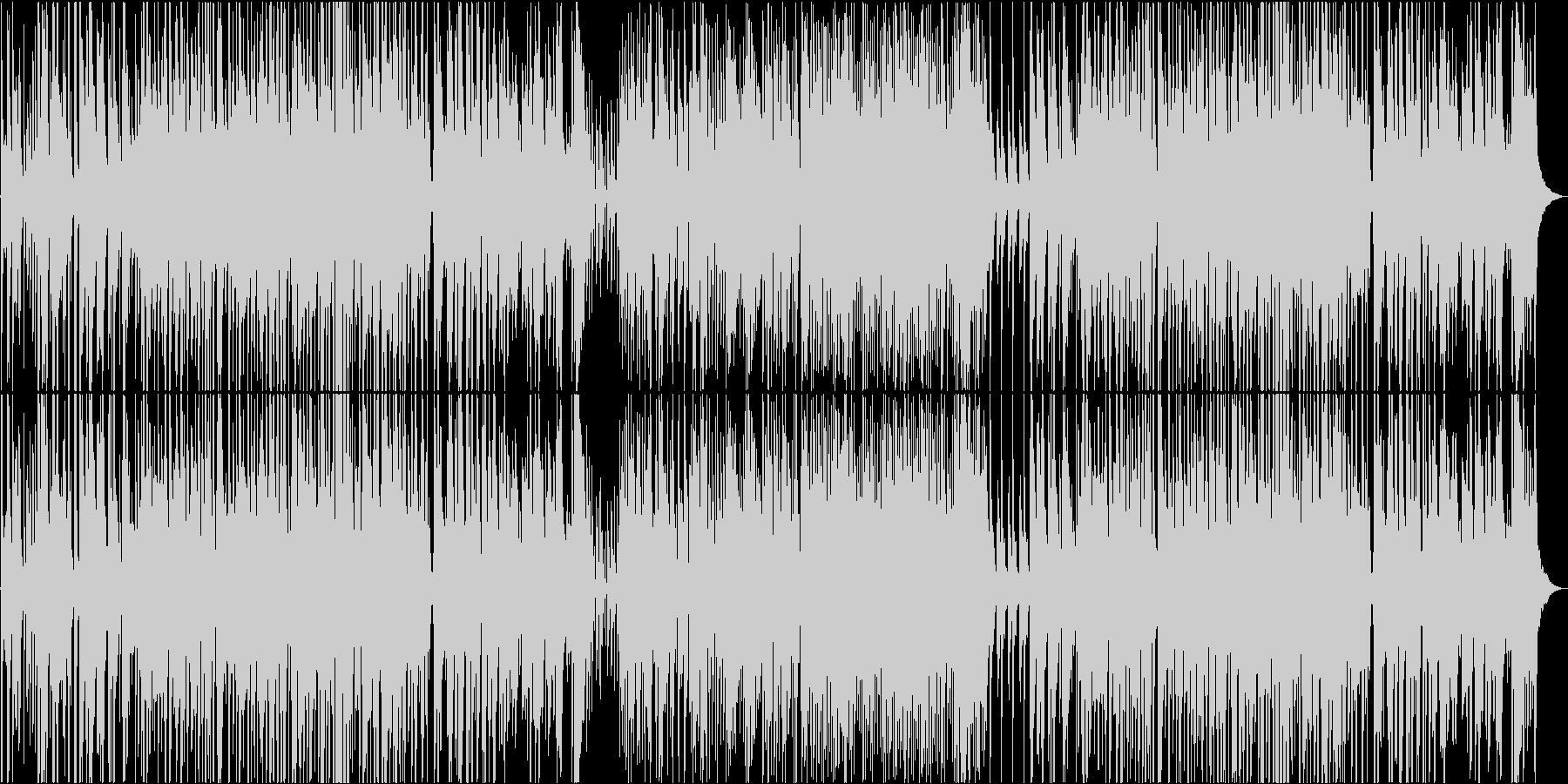 三拍子のオーソドックスジャズの未再生の波形