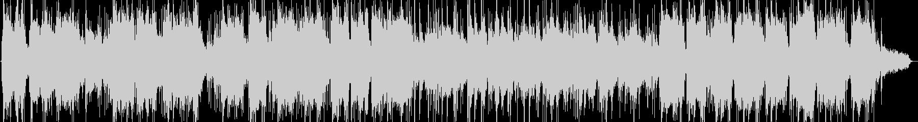 竹笛とシンセサイザーの静かな音楽の未再生の波形