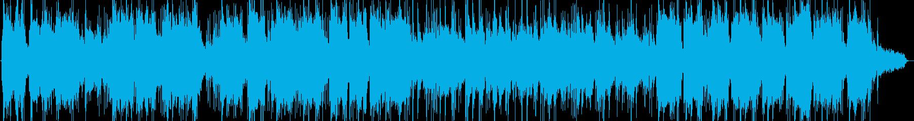 竹笛とシンセサイザーの静かな音楽の再生済みの波形