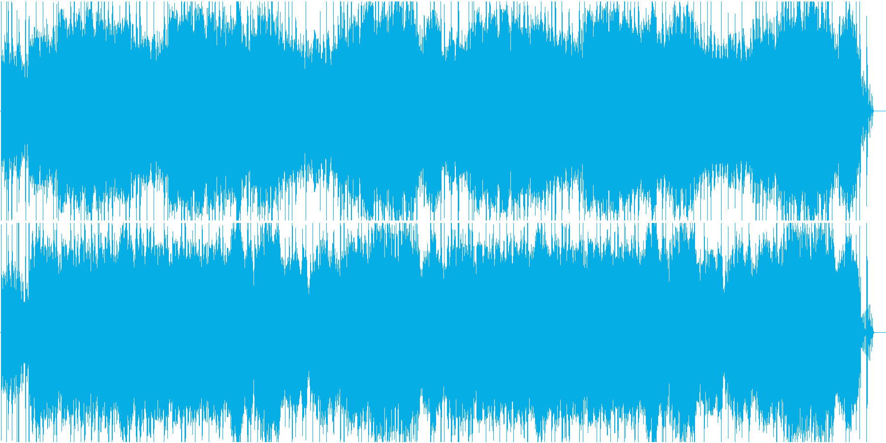 恐怖心を煽るホラー系BGMの再生済みの波形