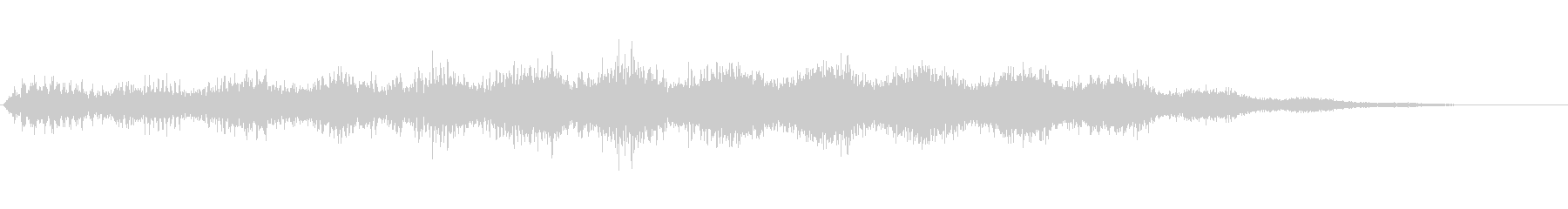 時空を越えて上昇していく音の未再生の波形