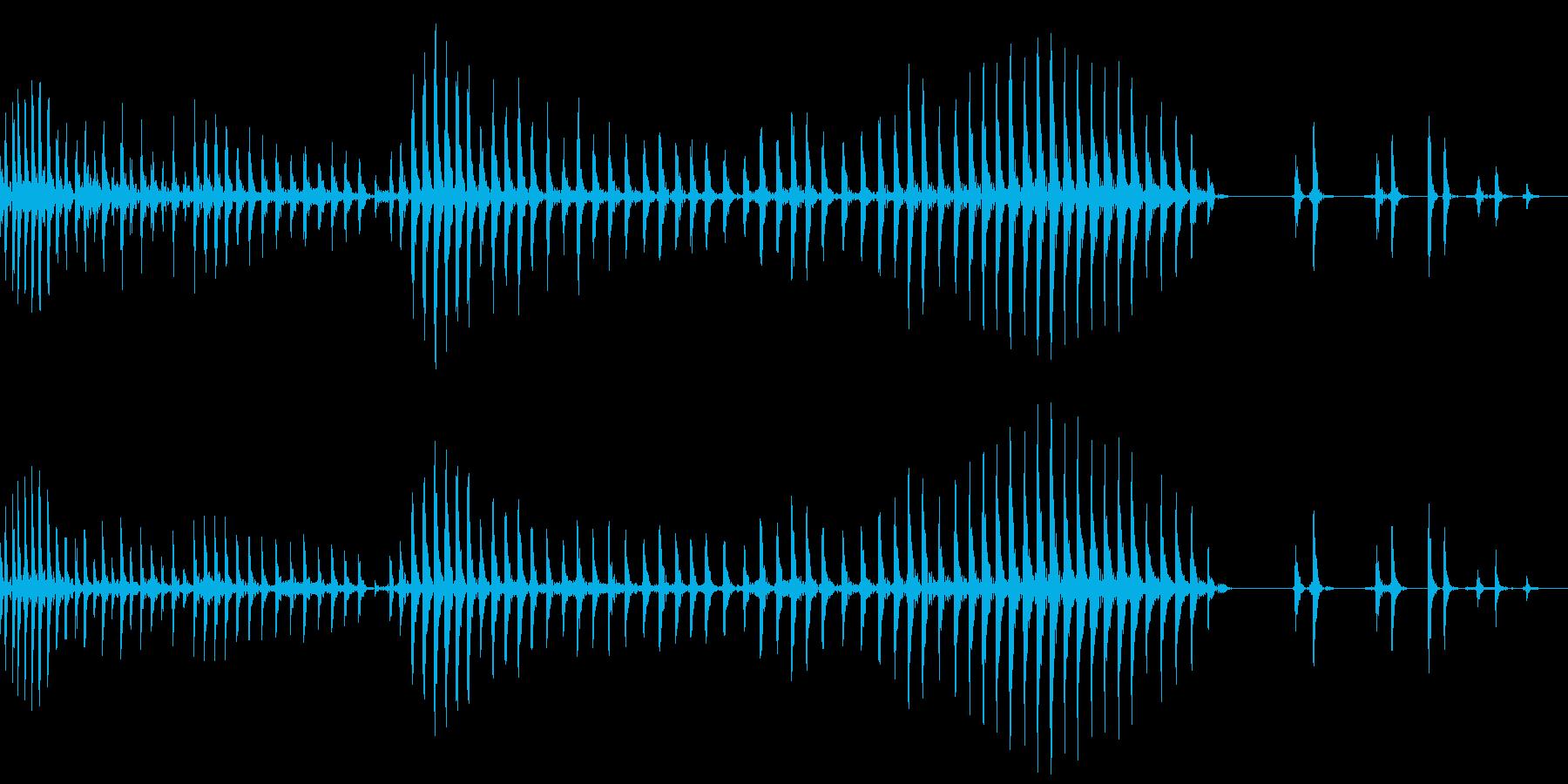 お腹が鳴る(グゥー)の再生済みの波形