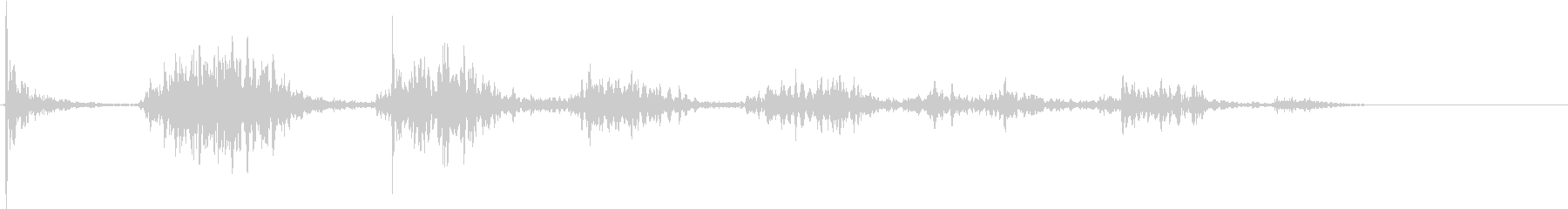 【生録音】ペンで書く音 机 7の未再生の波形
