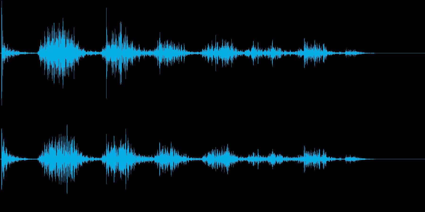 【生録音】ペンで書く音 机 7の再生済みの波形