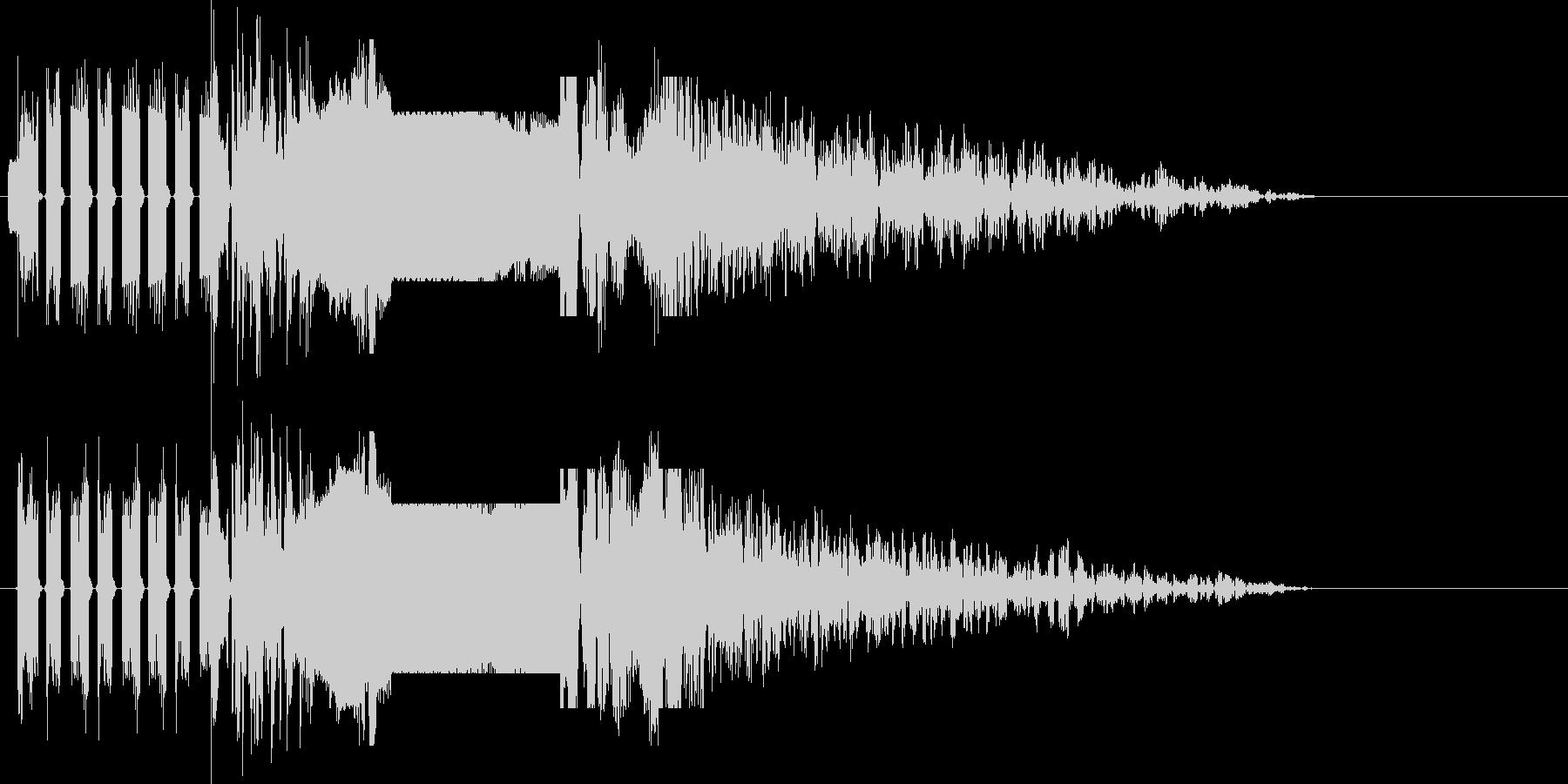 ラジオジングル制作にピッタリな効果音の未再生の波形