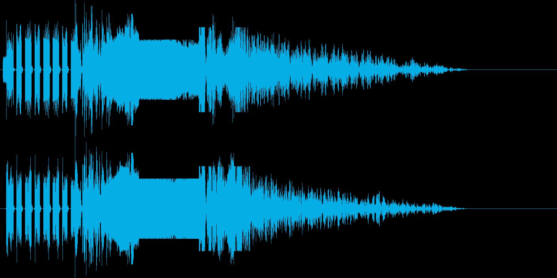 ラジオジングル制作にピッタリな効果音の再生済みの波形