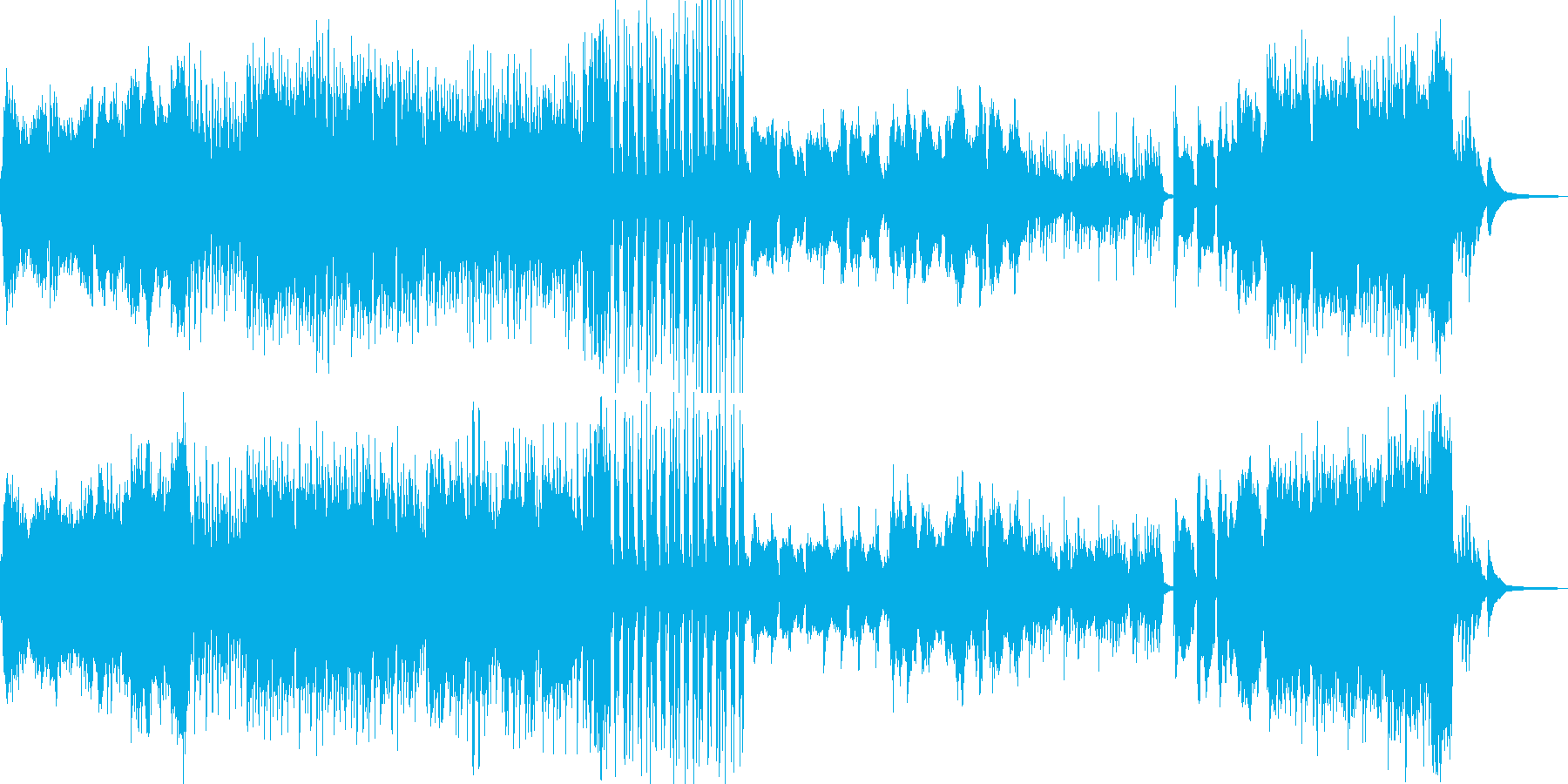 枯れ葉が舞い散るイメージ Dの再生済みの波形