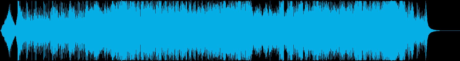 緊迫感のあるオーケストラ&シンセの再生済みの波形