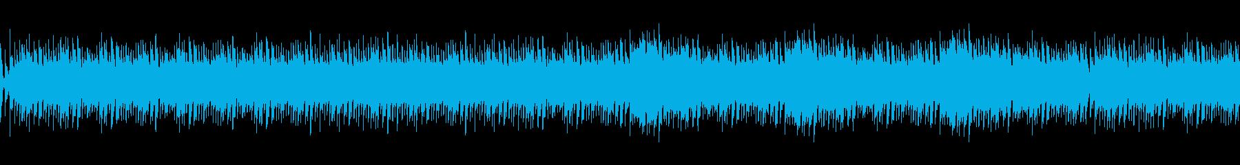 ニュースやナレーション用BGMループの再生済みの波形