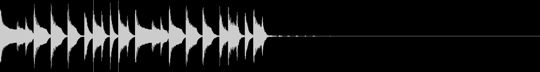 コミカルなトラップジングル3の未再生の波形