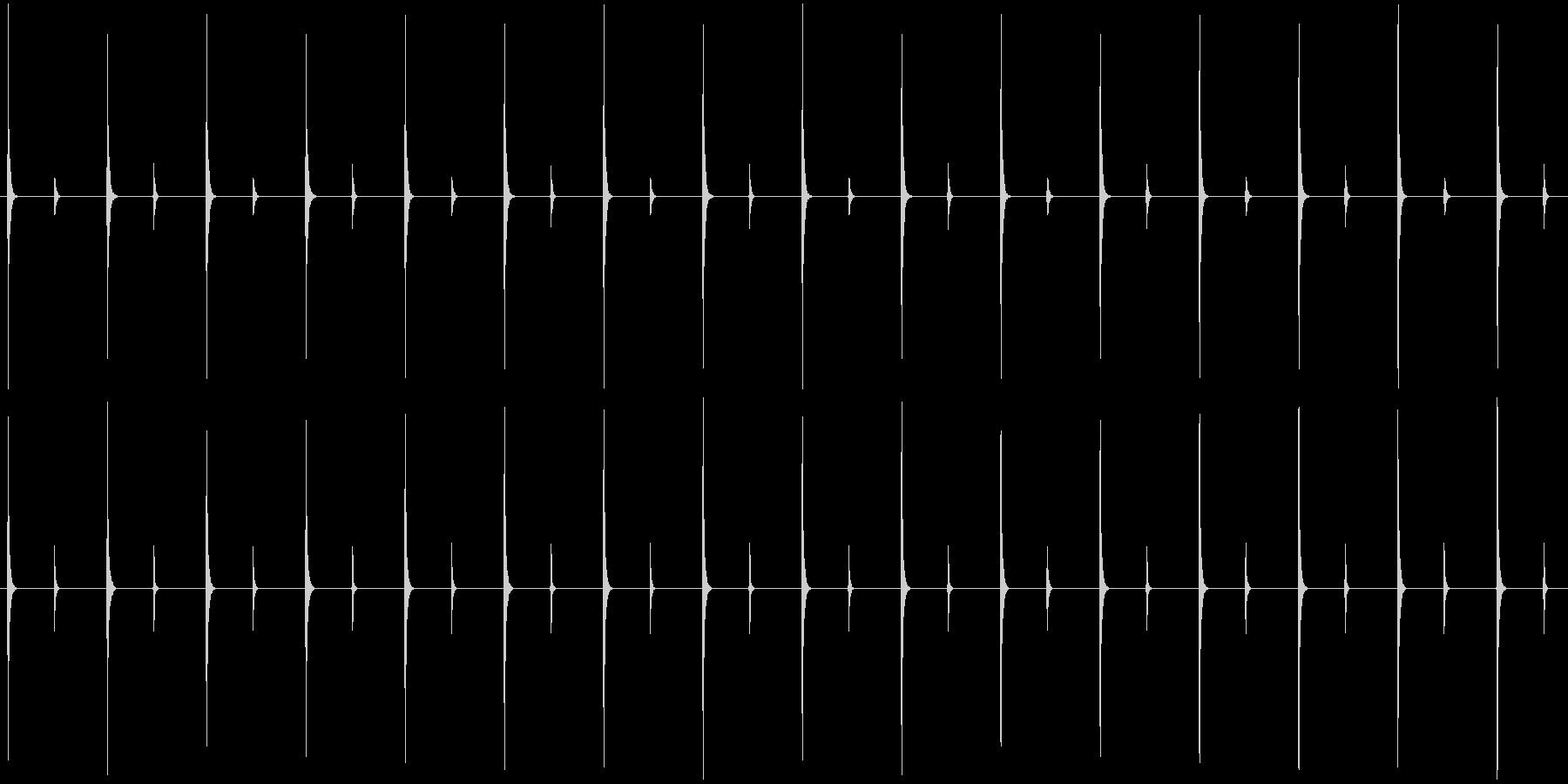 自動:内部:ハザードライト:実行中の未再生の波形