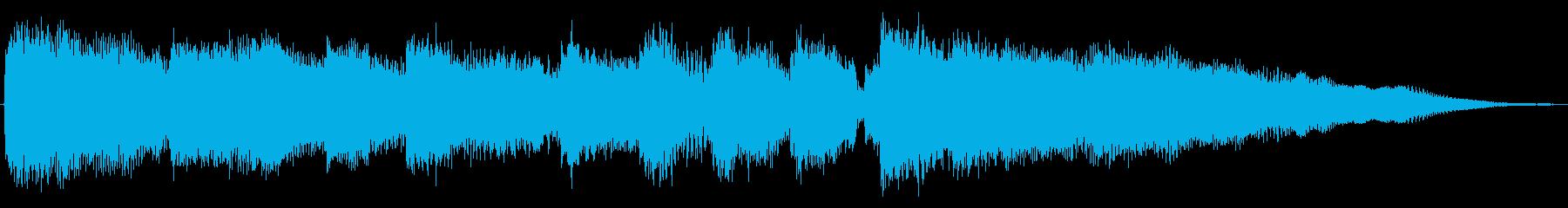 場面転換を想定したエレキギターのジングルの再生済みの波形