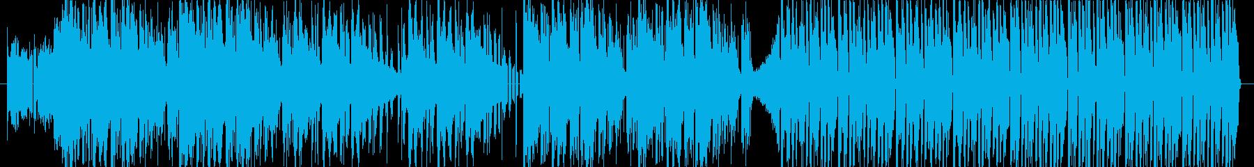 スマートで先進的な電子音インストの再生済みの波形