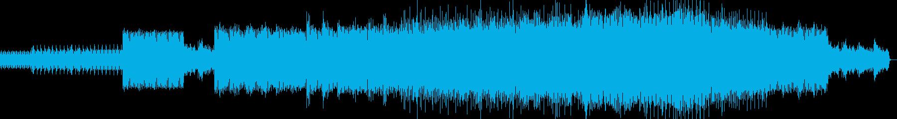 ループハウス。楽器のクレッシェンド。長旅の再生済みの波形