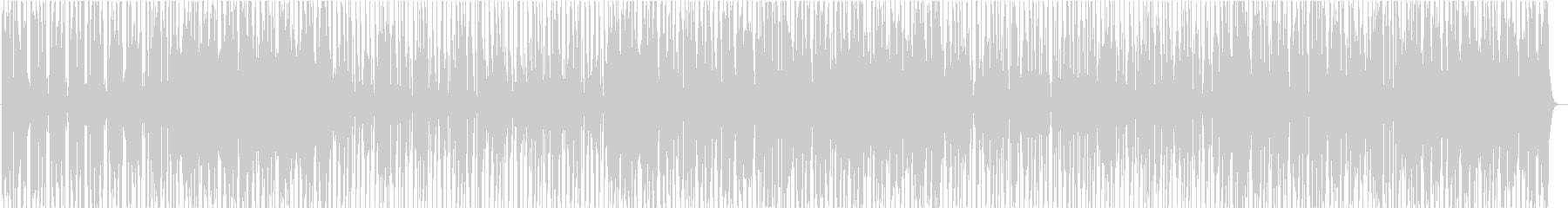 シンプルでタイトなファンク曲の未再生の波形