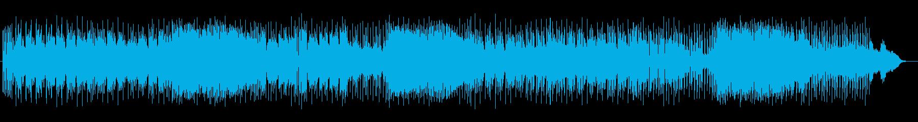 ミステリアスだけど楽しいゲーム風音楽の再生済みの波形