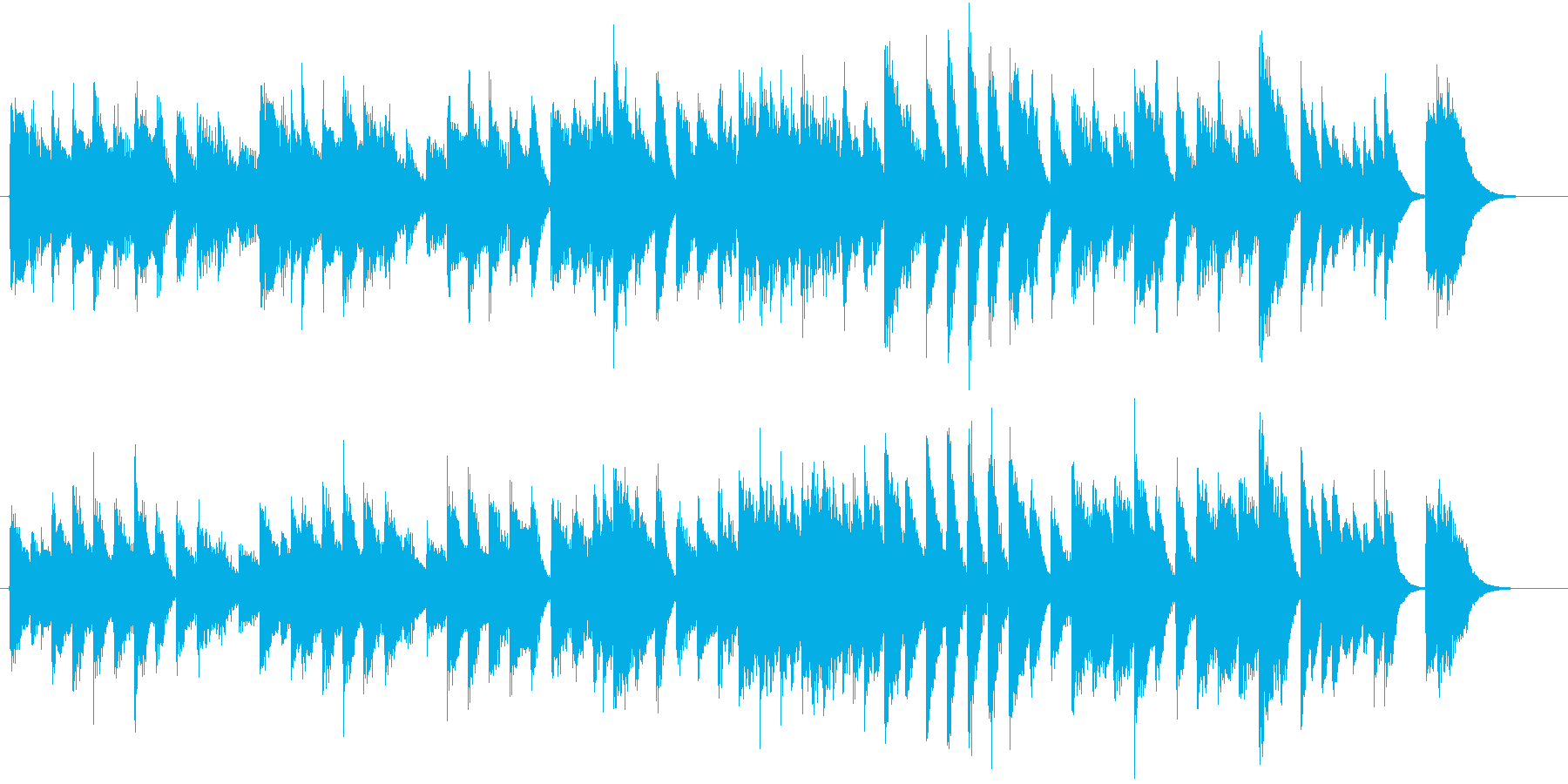 楽しい冬を描いたワルツ調のピアノジングルの再生済みの波形