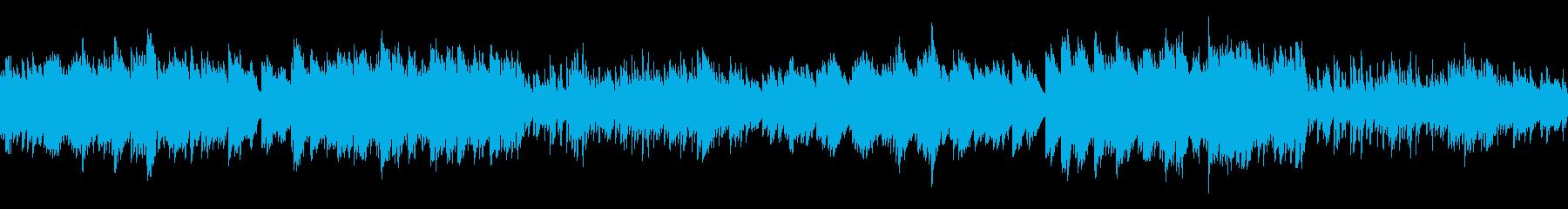 ホラー調で悲しい雰囲気の曲(ループ仕様)の再生済みの波形