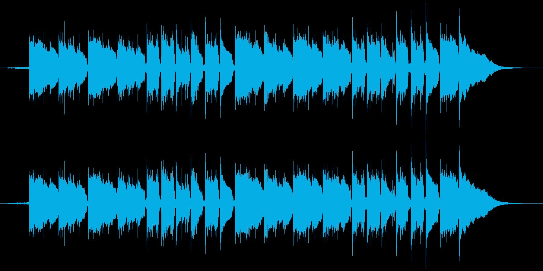 川の音とアコギのゆったりしたヒーリングの再生済みの波形