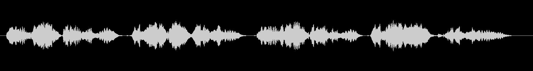 童謡「赤とんぼ」のフルート独奏の未再生の波形