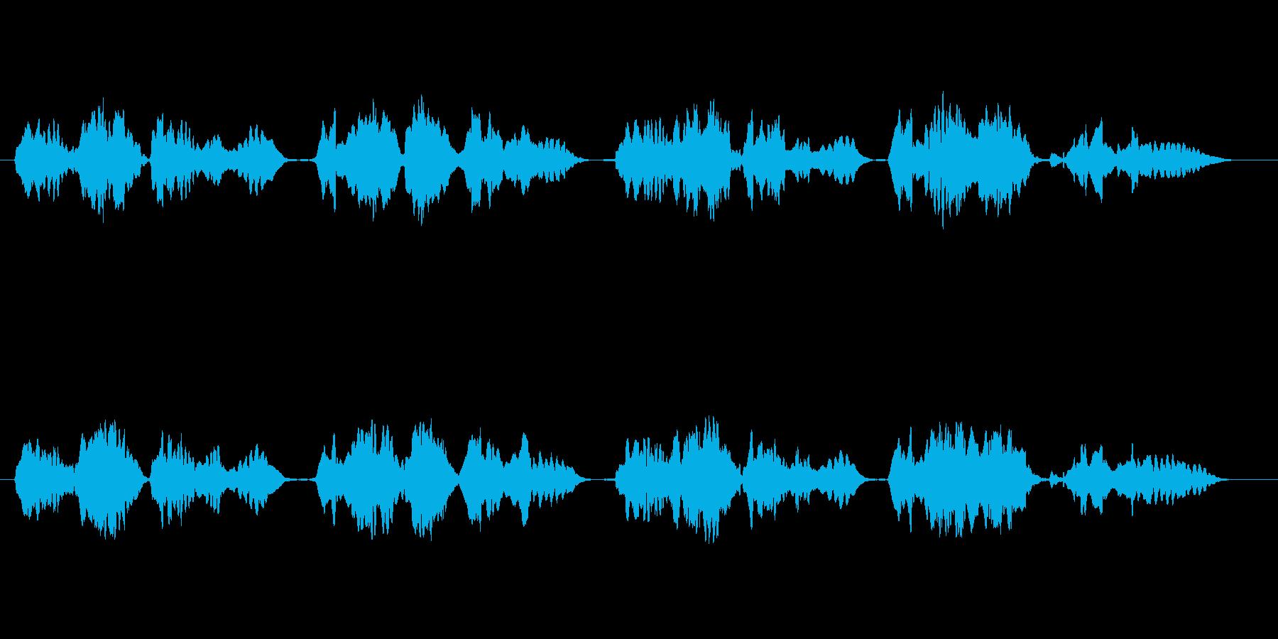 童謡「赤とんぼ」のフルート独奏の再生済みの波形