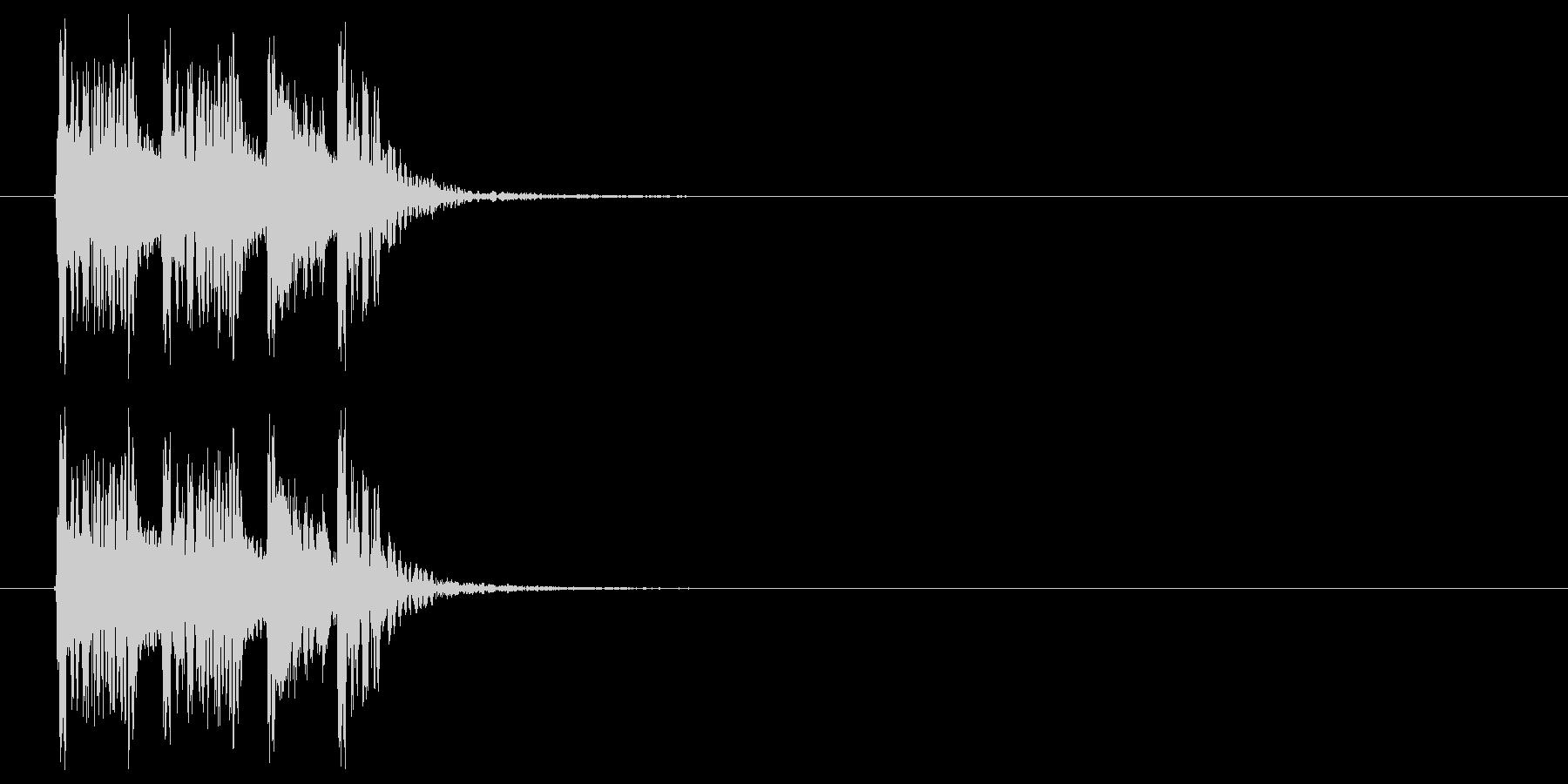 スピード感のあるドラムによるBGMの未再生の波形