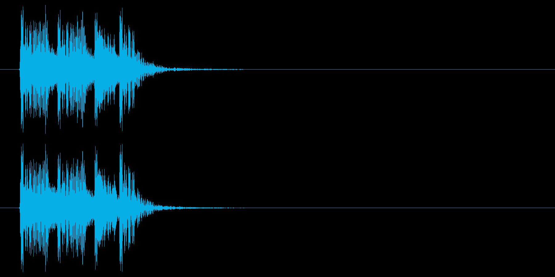 スピード感のあるドラムによるBGMの再生済みの波形