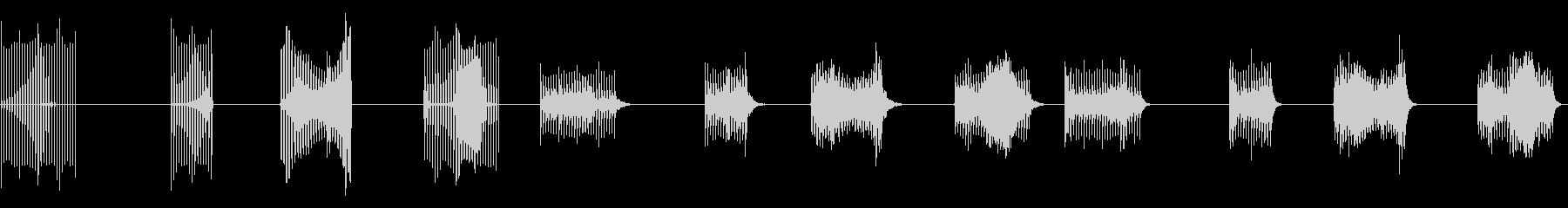 サンプルとホールド、4バージョンX...の未再生の波形