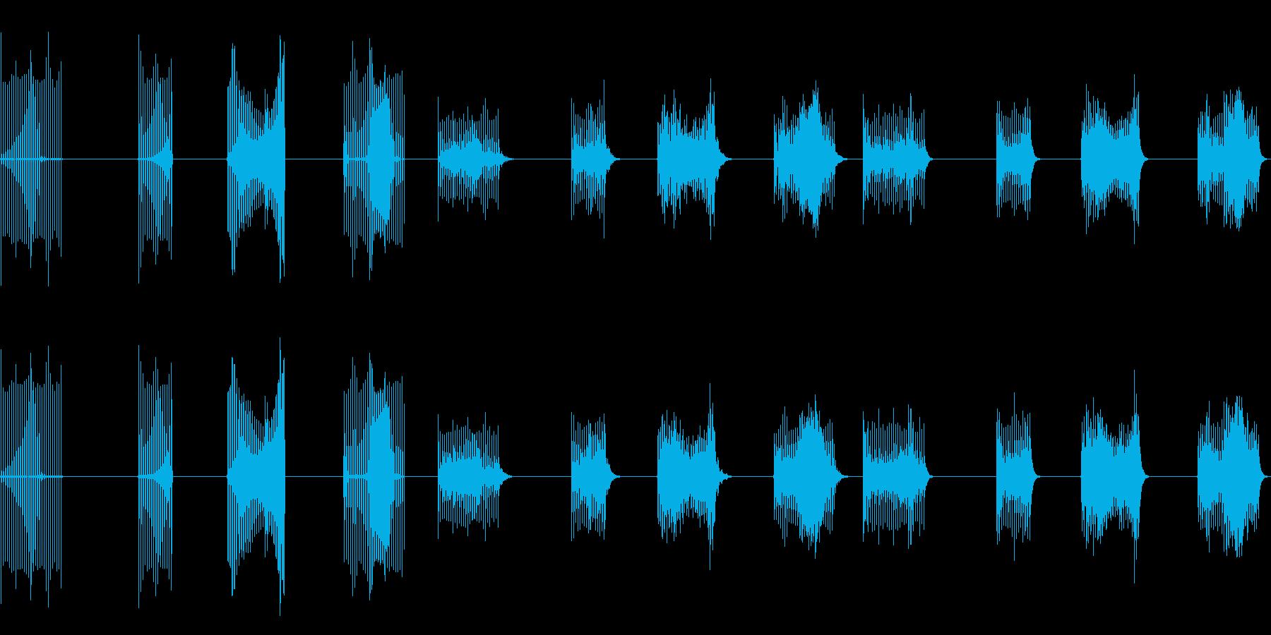 サンプルとホールド、4バージョンX...の再生済みの波形