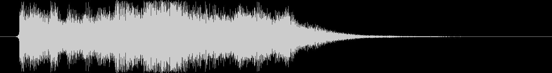 RPG ジングル「勝利」の音楽 3〜4秒の未再生の波形