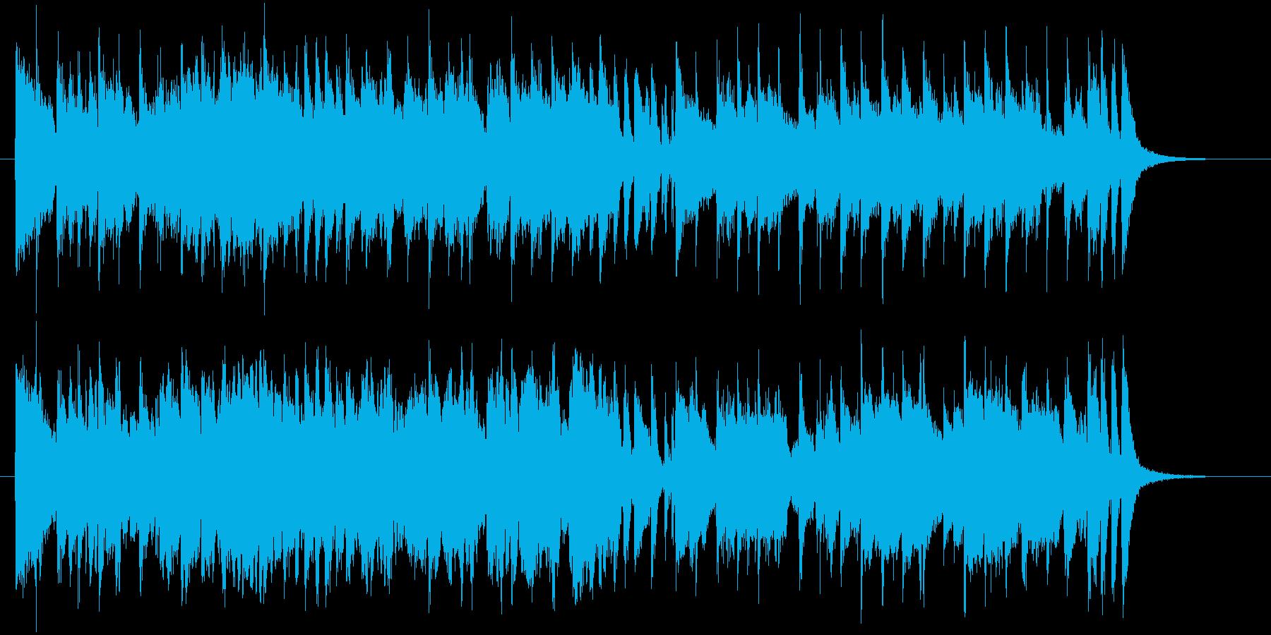 ゆったりと落ち着いた明るい音楽の再生済みの波形