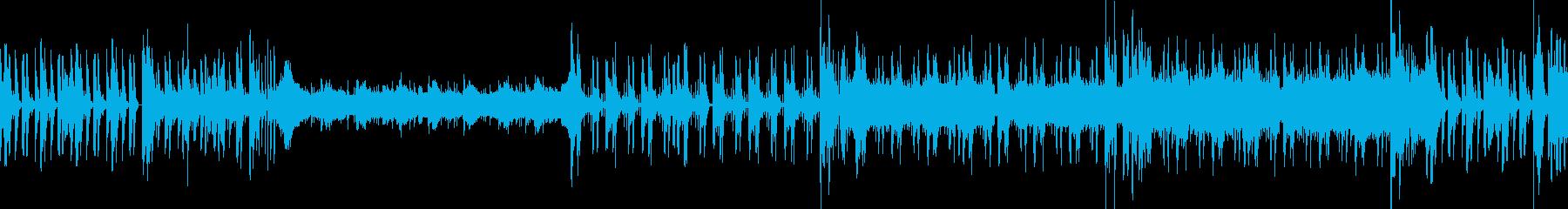 ハープの音を使った緊迫感のある2stepの再生済みの波形