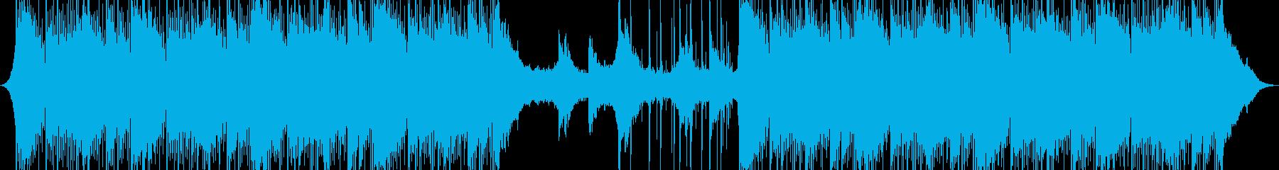 インスピレーションを与える企業音楽の再生済みの波形