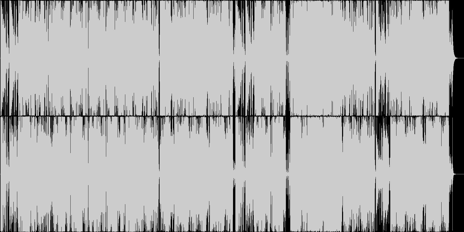 アンニュイな雰囲気のジャズセッションの未再生の波形