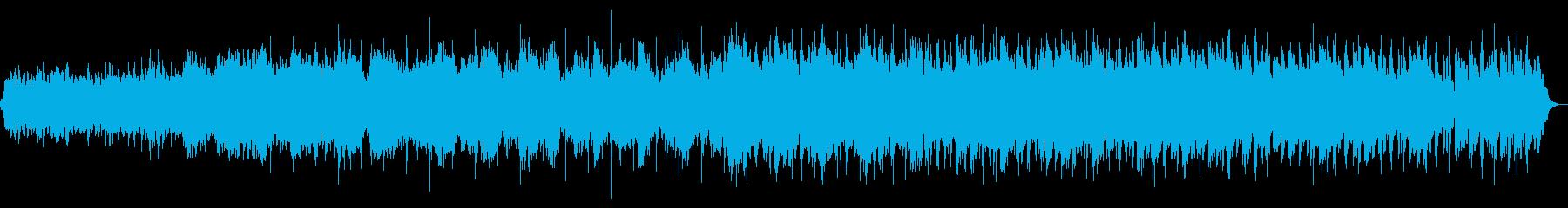 和のテイストを含むヒーリングサウンドの再生済みの波形