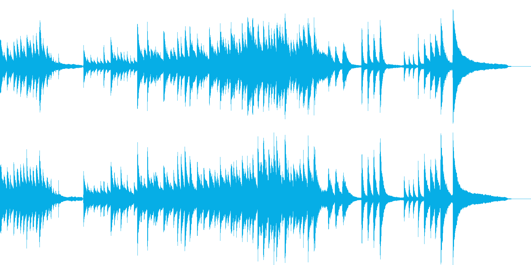 映像シーン・ゆったり感動的ソロ生ピアノ2の再生済みの波形