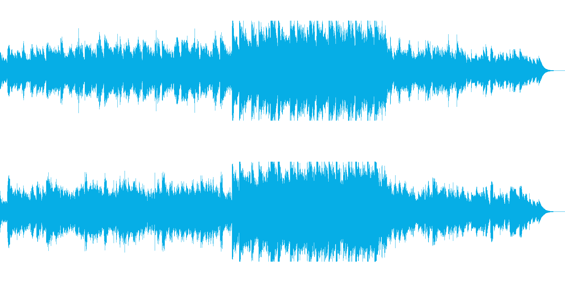 神秘的な光のオルゴールの再生済みの波形