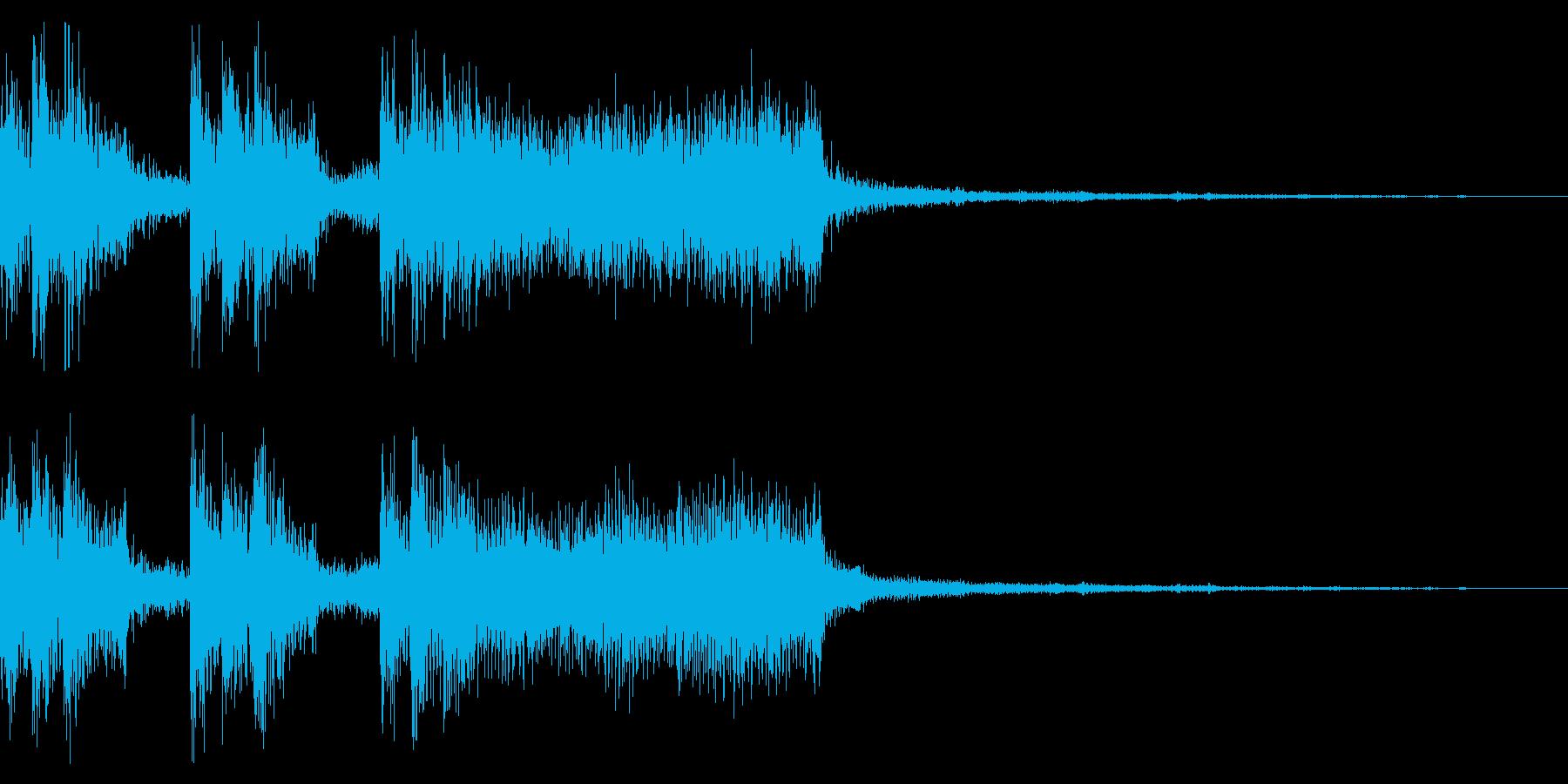 レトロゲーム風のクールなジングルの再生済みの波形
