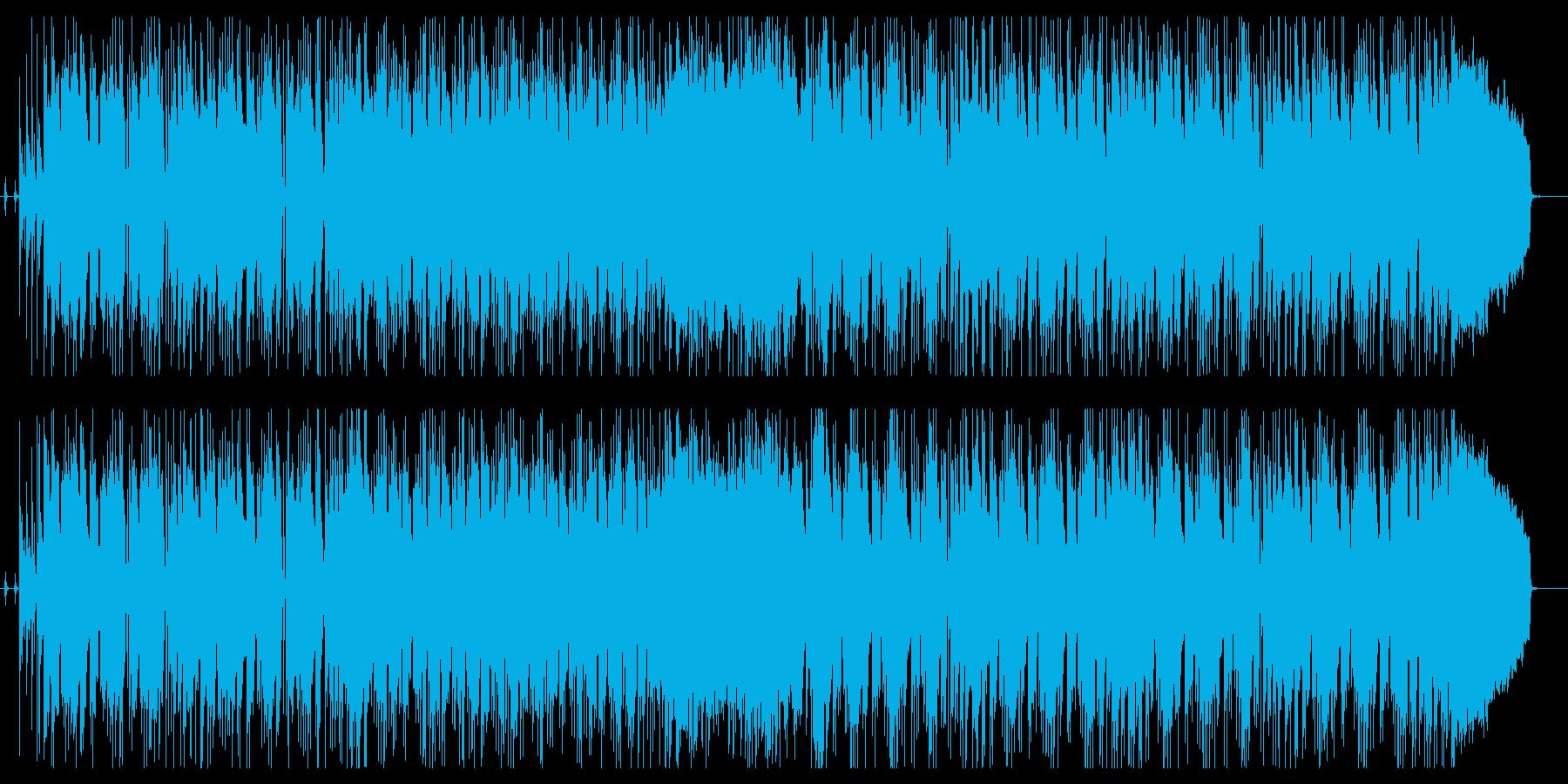 テンション感のあるベースラインのインストの再生済みの波形