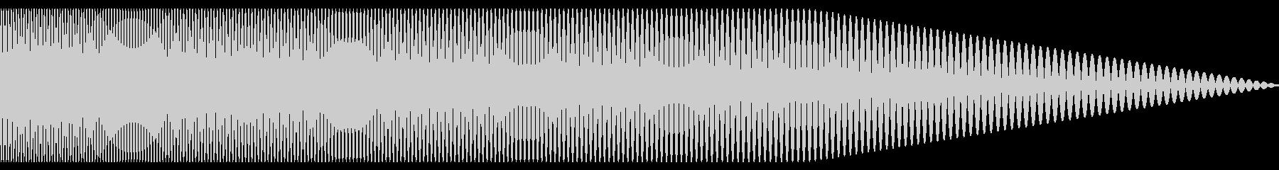ハリウッド映画でよく聞く低音の効果音1の未再生の波形